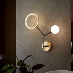 Lampada da parete per uso domestico leggera e lussuosa da camera da letto