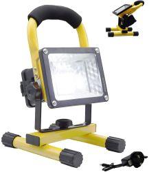 Luzes de Trabalho LED Projector LED Recarregável, trabalhos de emergência no local de trabalho à prova de luzes do farol do portátil para actividades ao ar livre, construção, Camping