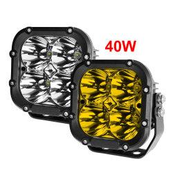 Système d'éclairage automatique de la conduite Spot LED de véhicule de faisceau phare de travail, 40W 5 pouces Super Bright 4X4 Off Voiture de route des feux de travail à LED