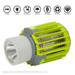 Alimenté par USB bug zapper Mosquito Killer 3 en fonction de la lampe 1 LED rechargeables USB Mosquito zapper avec fonction de la flamme
