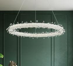 Boda moderna o Partido araña de cristal redondo LED lámpara colgante Círculo de iluminación colgante Anillo Zf-Cl-097