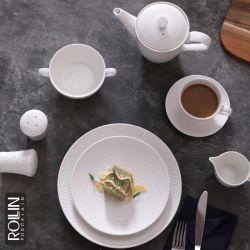 Royal Ware Round White Porcelain Catering Plates 세라믹 디너 플레이트 레스토랑용 식기류를 설정합니다