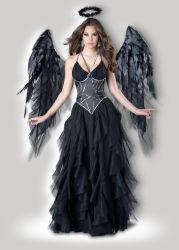 Хэллоуин Sexy белье костюмы талисман взрослых фантазии платье партии питания карнавал темный ангел