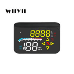 Het nieuwe GPS van Hud van de Auto van het Alarm van de Auto M17 Auto Stemmende Hoofd van de Snelheid op het Alarm van de Snelheid van de Auto van Eyelights van de Vertoning van OBD
