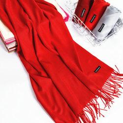 Женщин очаровательный зимний теплый чистый кашемир Tassel Шарфа