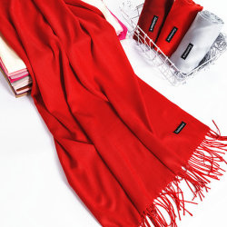 Vrouwen Mooie Winter Warm Pure Cashmere Tassel Sjaal