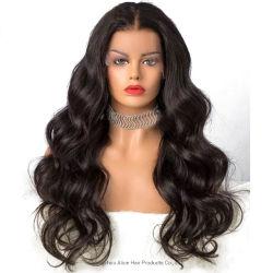 Prix de gros Extension brésilien HD 360 Swiss Full Lace Wig perruque de cheveux humains avant