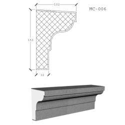 Espuma de poliestireno expandible hecho personalizado cornisa decorativa EPS Molding