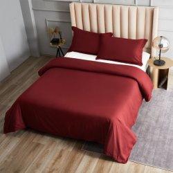 ベッドシーツ付きのベッドシーツが用意されている 綿 100% のフラット寝具セット
