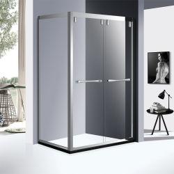 8mm de acero inoxidable cristal ducha Profle armarios con puerta corredera en color cromo