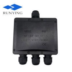 水中ケーブルLED力のプラスチック電線の防水ジャンクション・ボックスIP68はケーブル腺を搭載するコネクターボックスに耐候性を施す