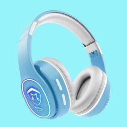 Montagem da cabeça luminosa fone de ouvido Bluetooth fones portáteis Bluetooth Dente Azul Professional da fita para o pescoço estéreo com fio de Jogo Auscultadores DJ