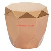 ローズの金の終わり2mmの厚さS304側面表のコーヒー家具