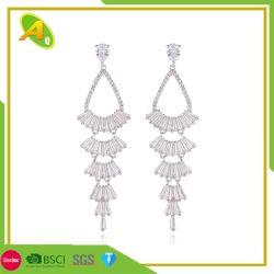Style folk Earrings Women's Long Tassel Earrings cuivre Micro - Régler le ventilateur jupe Earrings (15)