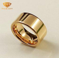 مجوهرات الأزياء مجوهرات الأعلى جودة الجسم مجوهرات 10 مم عرض 18 ألف وردة سلسلة حلقات التنجستن وكاربيد الذهبية المصقولة Tst2022