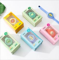 유아용 도매 사용자 지정 실리콘 보안 색상 변경 스포츠 인쇄 방지 프로모션 선물을 위한 모기퇴치용 고무 실리콘 손목 밴드