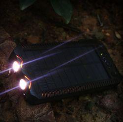 Speciale 20000mAh draagbare zonneceloplader met sigarettenaansteker Lichter