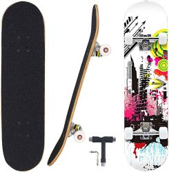 3108 1 polegada 4 rodas Maple Street Mini Skateboard