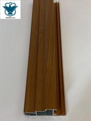 El patrón de la madera de transferencia de calor vacío perfil de aluminio extruido, acabados de madera