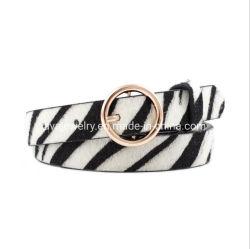 Der klassisches Belt Form-Schlange Zebra-Streifen Leopard Tier gedruckten PU Dame