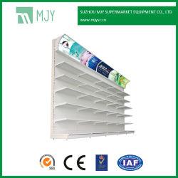 Supermercado metálicas de aço Guarde recordações Exibir Rack gôndola para os cosméticos com luz de LED