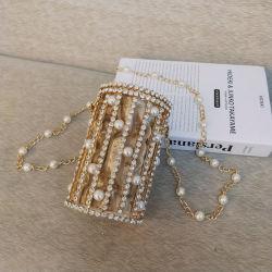 Leb1253 Perla de la cuchara del embrague de cadena de diamante de fantasía Bolsos Bolso de Hombro bolsos de noche con reborde Crossbody