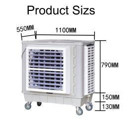 450 واط، 10000CMH، تقنية منخفضة الضوضاء، الطاقة، صناعية مثبتة على الحائط مبرد مضخم صوت نافذة مبرد الهواء التبخر مع CE