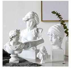 Decor Resin Craft David Statue White Kleur formaat 15cm Onderwijs Model polyhars-figuurtjes