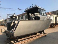 Bateau de pêche en aluminium modèle populaire 25FT Deep V 7,5 m de la coque de bateau de style de vie