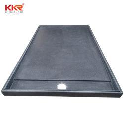 Comercio al por mayor superficie sólida de la bandeja de cuarto de baño ducha de piedra de resina base para Europa (KKR-2001-9)