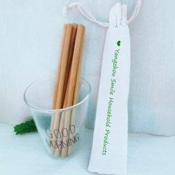 La SGS adopté BSCI Eco bambou boire 5mm/6mm pailles avec sac de jute