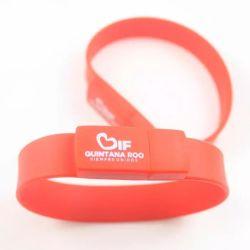 شرائح ذاكرة Silicone لمحرك قلم USB على المعصم Bracelet USB مخصص