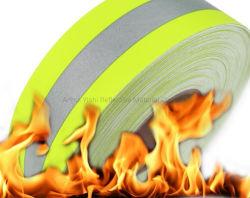 Haute luminosité retardateur de flamme réfléchissant Yar Bande de tissu résistant au feu