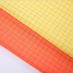 100% poliestere tessuto antistatico impermeabile, rivestito in PU Fr, giallo fluorescente/arancione