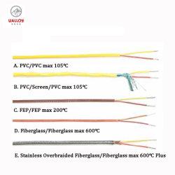 K-vriespunt-0.5r de FEP Geïsoleerde Kabel van het Thermokoppel van het Type K