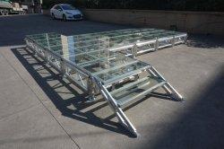 Fase de vidrio de la plataforma con aluminio 6063-T5 de material para eventos de conciertos