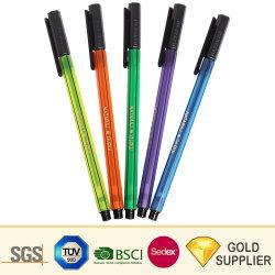 أنيق أنيق أنيق رائع جميل البلاستيك شعار مخصص علامة تجارية مطبوعة ألومنيوم بكرة القلم تعزيز فاخرة سحب من 0.5 إلى 0.7مم قلم كروي