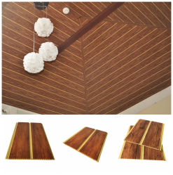 Knall-Entwurfs-Farben-Wellen-Wand-dekoratives Vorstand Fliesen/Tablilla Techos Cielo Raso Belüftung-und Plastikstreifen-Dach falsche Belüftung-Decke
