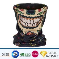 Comercio al por mayor de China de poliéster personalizadas de tejido de Nylon tubo sombreros Bandana Harley cráneo Deportes logotipo integrada multifuncional Magic Scarf