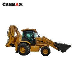 Canmax Cm778A 미니 소형 트랙터 굴절식 견인 가능 백호 로더, 굴삭기 로더 JCB 3cx/3DX 1cx, Cat 428F, Liugong 백호 로더(기본 가격)