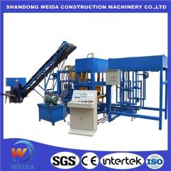 Weda Pequenas Qt Barata4-15s sistema hidráulico automático força de vibração forte Cinzas volantes de cimento tijolo e máquina para fazer blocos de concreto da linha de produção