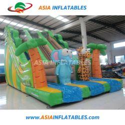 Горячая продажа надувной слон Жираф слайд с двумя полосами движения