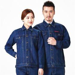 高品質作業ジーンズの青い摩耗の労働の防護衣