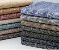 80%Polyester 20%Wool Herringbone zweiseitiges Woolen Gewebe für Obere