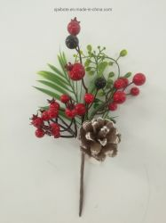 جميل أحمر حلية [بفك] عيد ميلاد المسيح معيلات مع زبد عيد ميلاد المسيح كرات وصنوبر مخروط