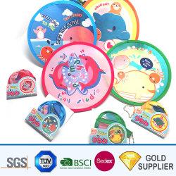 Commerce de gros logo personnalisé conçu OEM Frisbee enfants Funny Toys Round en nylon doux en mousse polyuréthane recyclé Splash ventilateur de jeu ultime Flying Disc pochette poche de pliage