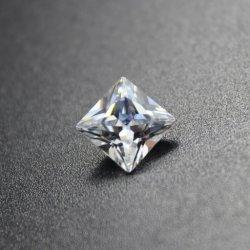 Commerce de gros Asscher Cut Zirconia Cubique de pierres précieuses de couleur pour Earring