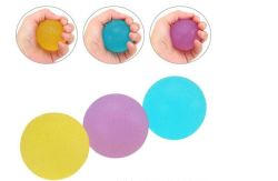 Популярные экологически безвредные TPR рукоятки шарик запястья Exerciser массаж шарик мягкий сожмите подчеркнуть Reliever дети детей игрушки