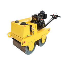 Pequenas Rodoviárias Compactador tipo tambor roda de aço duplo rolo de estrada de gasóleo
