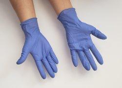 Borracha descartáveis de látex de protecção luvas de exame